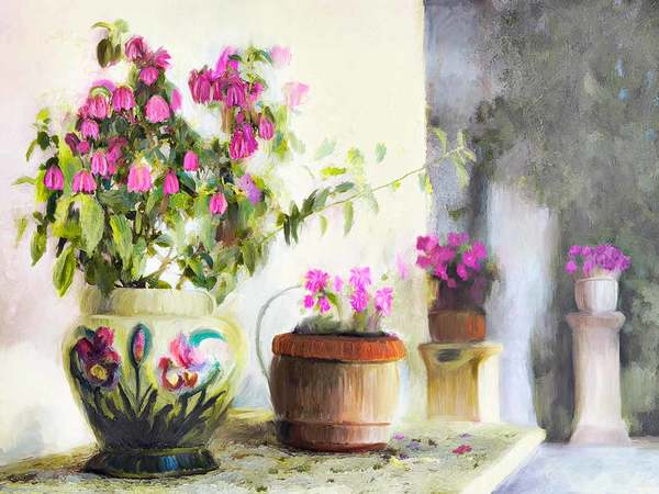 Flowerpots, Giverny