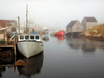 Boat in Fog, Peggy's Cove